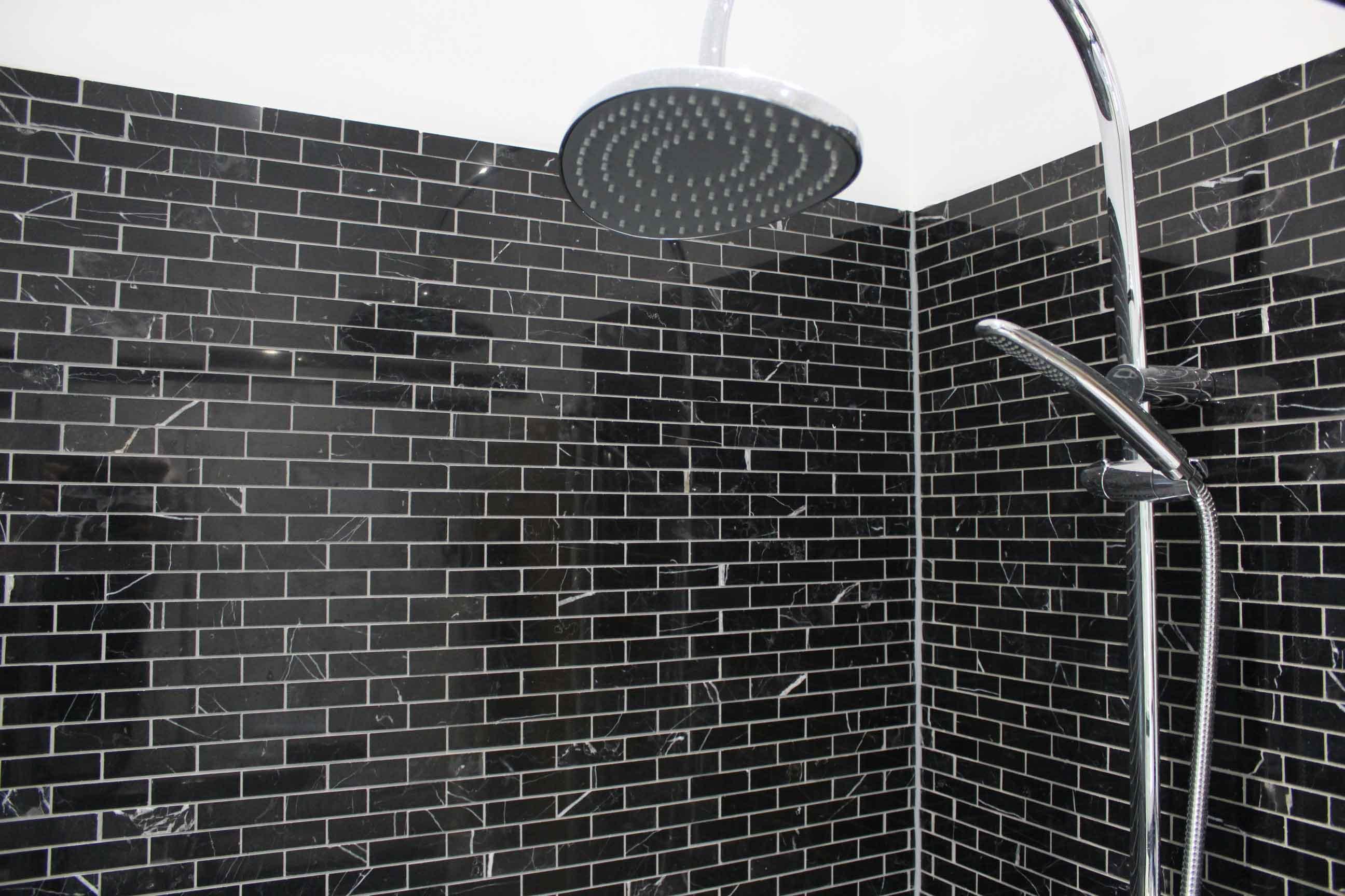 Marquina Marble Brick Mosaic Tiles