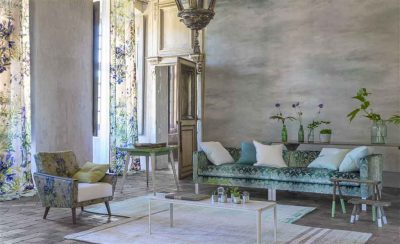 Cielo Wall covering in Jade Designers Guild