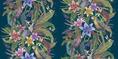 Lemur-Teal-Tropical-Fushion The Graduate Collection