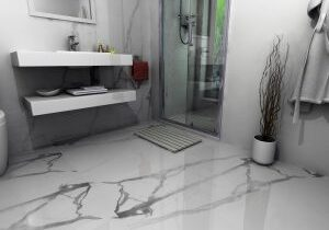 Marble effect tile